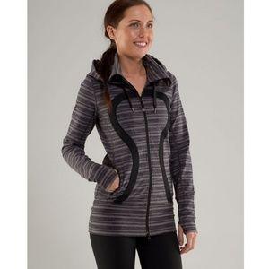 <Lululemon> Stride Jacket Size 6 Striped Zip Up